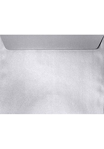 9 x 12 Booklet Envelopes - Silver Metallic (250 Qty.) | Perfect for Catalogs, Annual Reports, Brochures, Magazines, Invitations | 5350-06-250