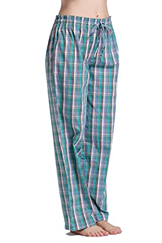 CYZ Women's 100% Cotton Woven Sleep Pajama Pants-F126-S - Flannel Pajama Pants Sleepwear