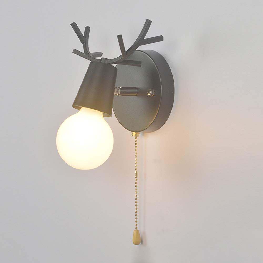 Miroir nordique avant phares rotatifs mini enfants chambre applique murale lampes en fer fer cr/éatifs enfants lumi/ère murale maison salon fond vanit/é /éclairage d/écoration avec interrupteur /à tirette