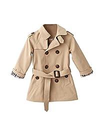 Evelin LEE Baby Girls Windbreaker Trench Coat Spring Autumn Outwear Jacket