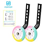 FORTOP Bike Training Wheels Heavy Duty Rear with Stabilizers Mounted Kit for Kids Boy Girls Distinctive Colorful Bicycle Training Wheels of 12 14 16 18 20 Inch