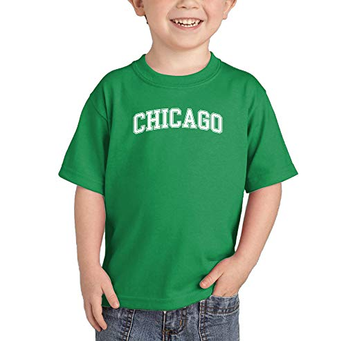 HAASE UNLIMITED Chicago - State Proud Strong Pride Infant/Toddler Cotton Jersey T-Shirt (Kelly, 6 Months) -