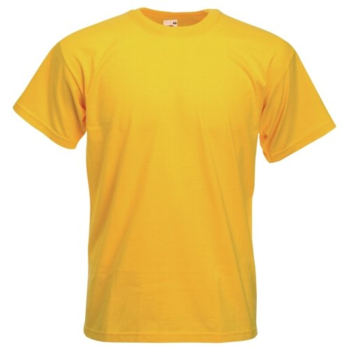 Fruit of the Loom Super Premium T-Shirt - Sunflower Yellow Small by Fruit of the Loom