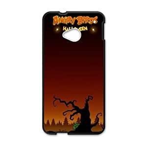 Angry Birds_002 TPU Case Cover for HTC One M7 Cell Phone Case Black