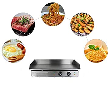 TryESeller Plancha eléctrica Barbacoa Parrilla Plato Caliente Tocino Huevo Chorizo Freidora Panqueques (4400W): Amazon.es