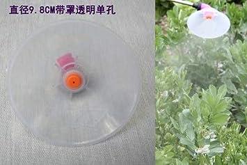 Zqlcc Hilo de Spray pulverizador de Mochila Boquilla Ajustable de plástico por soplado Boquilla de pulverización Malas Hierbas en Jardín Horticultura Agricultura Cabeza (Color : Clear)