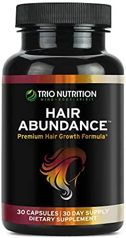 Biotin 10,000 mcg - Hair Vitamins for Hair Growth | Hair Abundance is a hair treatment supplement pill boosted with Marine Collagen, Keratin, Bamboo - Thicker Eyelashes For All Hair Types Women & Men*