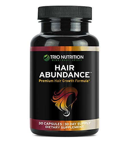 Biotin 10,000 mcg - Hair Vitamins for Hair Growth | Hair Abundance is a Hair Treatment Supplement Pill Boosted with Marine Collagen, Keratin, Bamboo - Thicker Eyelashes for All Hair Types Women & Men