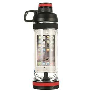 iphone 6 6s 7 Smart Sport Water Bottle .4L Waterproof Storage Organizer (Black, for Iphone 6 6s 7)