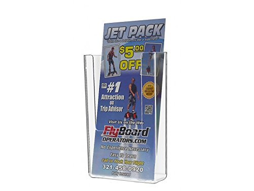 Marketing Holders Wall Mount Rack Deep Pocket for Tri-Folds (Clear, 24) by Marketing Holders