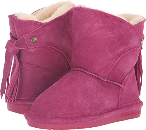 BEARPAW Girls' MIA Toddler Fashion Boot, pomberry, 11 M US Little Kid