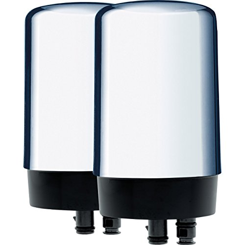 Brita On Tap Basic Water Faucet Filtration System Filter, Chrome, 2 pack - Chrome Drinking Water