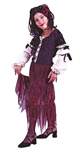 Girls Gypsy Rose Kids Child Fancy Dress Party Halloween Costume, S (4-6)