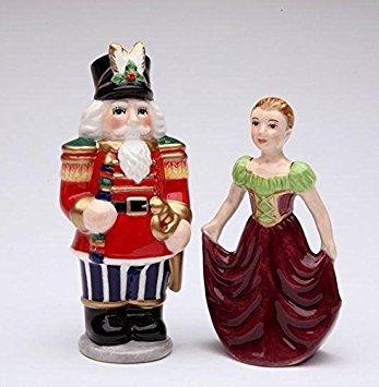 (Cosmos Gifts 56524 Nutcracker and Dancer Salt and Pepper Set, 3-7/8-Inch)