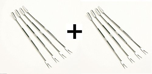 Stainless Norpro Fork Steel (Norpro 801 Stainless Steel Seafood Forks/Picks, Silver, Set of 8)
