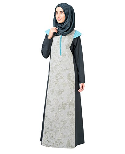 Silk Route Printed Front Zipper Islamic Abaya Burka Jilbab