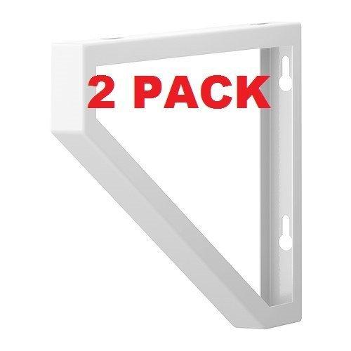 Ikea Shelf Bracket Ekby Lerberg (Set of 2) White Powder Coated Steel 11