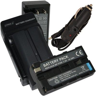 Charger + 2 Battery for Sony Mavica MVC-FD83 MVC-FD85 MVC-FD87 MVC-FD88  MVC-FD90 MVC-FD91 MVC-FD92 MVC-FD95 MVC-FD97 InfoLithium L + Car Plug