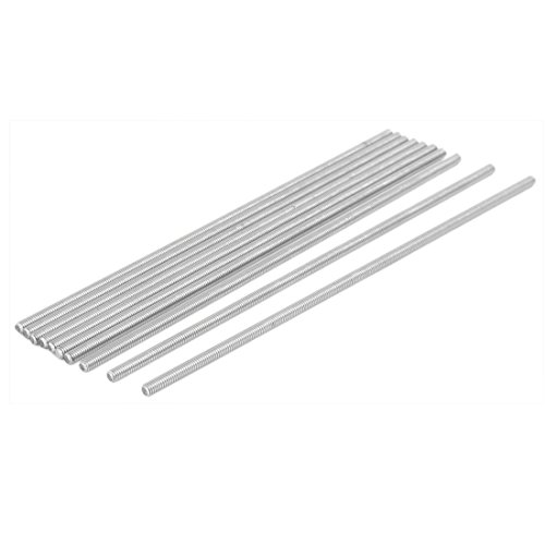 uxcell M4 x 170mm 304 Stainless Steel Fully Threaded Rod Bar Studs Fastener 10 Pcs