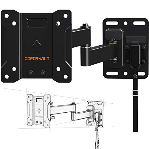 (TV Mount for Camper RV Full Motion Lockable TV Wall Mount for 10-26 Inch LED LCD OLED Plasma Flat Screen TV, RV Mount on Motor Home Camper Truck Marine Boat Trailer)