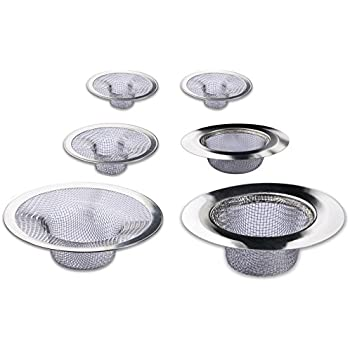this item 6 pack sink strainer set fits most kitchen sinks bathroom basins tub shower drains laundry room