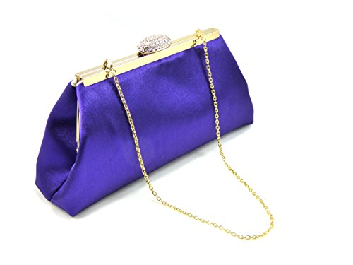 Regal Purple and Gold Flake Bridal Clutch, Bridesmaid Clutch, Mother of the Bride Gift, Wedding Clutch