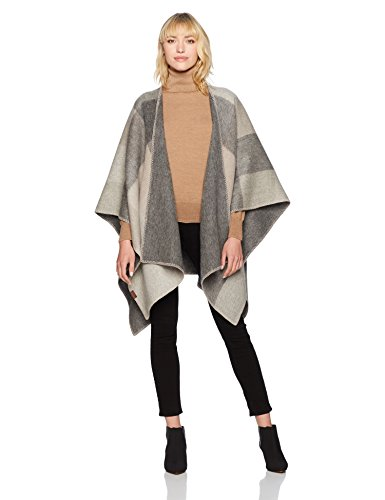 Pendleton Women's Double Sided Shawl Accessory, -tan/buff check, One Size by Pendleton