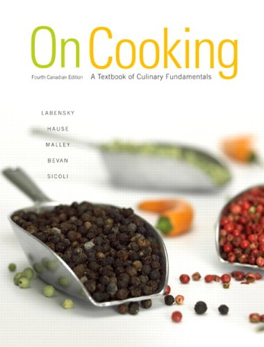 On Cooking, Fourth Canadian Edition (4th Edition)