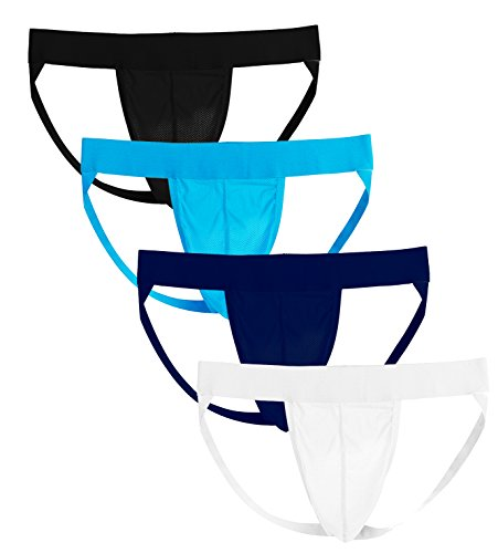 Summer Code Mens Jockstrap Sexy Jock Strap Underwear Athletic Supporter for ()