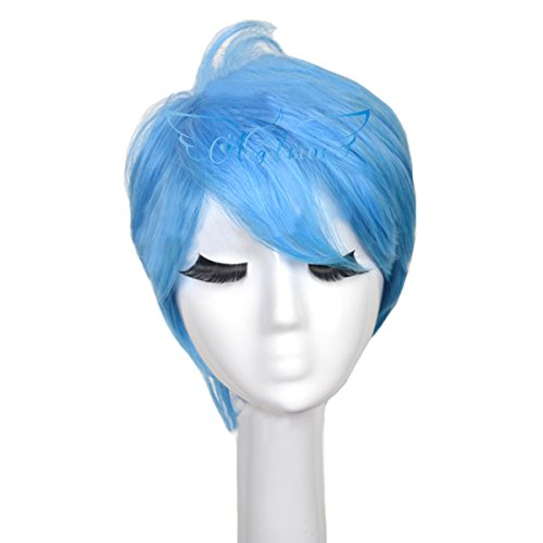 Angelaicos Unisex Lolita Party Halloween Cosplay Costume Hair Full Wigs Short (Layered (Pixie Wigs Halloween)