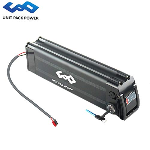 UnitPackPower 36V 18AH Lithium ion E-Bike Battery Silver Fish for 18650 Cells with Potable Handle, fits 36V 500W E-Bike Motor/Mountain Bike/Road Bike/Cyclocross Bike/Scooter (Black)