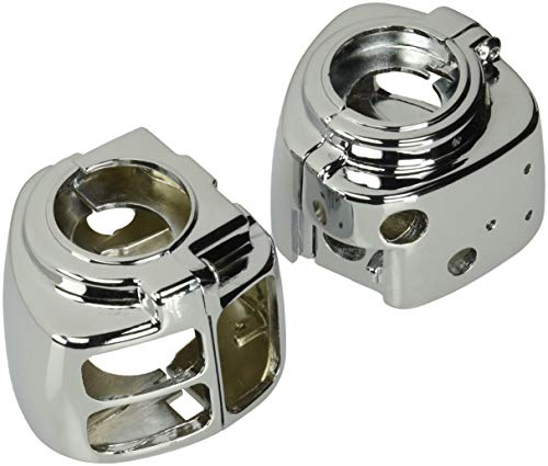 Krator CSH010 Control Harley Davidson Switch Housings Sportster/Dyna/Softail/V-Rod (1996-2012) Cruiser Bobber Chopper Chrome