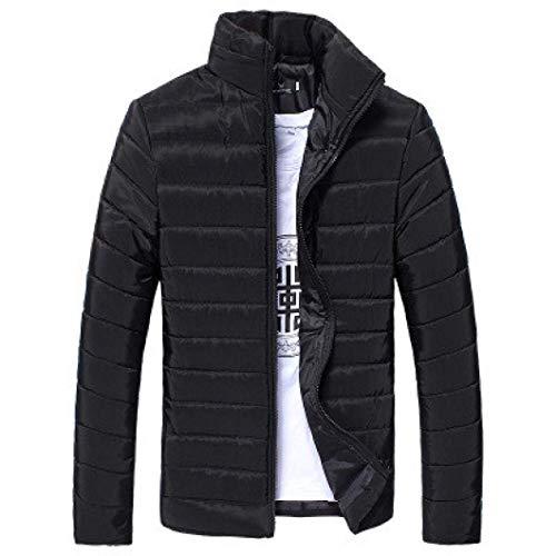 Coat Jacket Da Parka Uomo schwarz Down Cappuccio B Con Warm S color Trapuntato Huixin Winter Giacca Size tUgqHxwp
