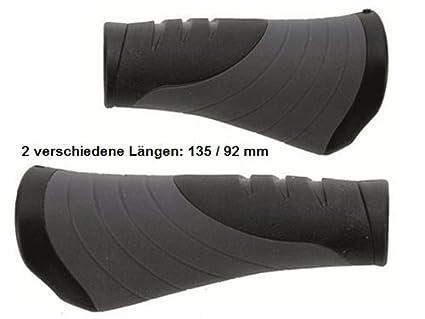 Velo Fahrrad Lenkergriffe Tour Pro 135 mm Ergogel D3 schwarz//grau Schraubgriffe
