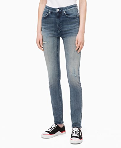 Calvin Klein Women's High Rise Skinny Fit Jeans, Balinga Blue, 33X32 ()