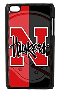 NCAA Nebraska Cornhuskers American Football Protector Hard Case for Apple iPod Touch 4th Generation - Black Design