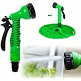 Dream Man 50 Ft Expandable Hose Pipe Nozzle for Garden Wash Car Bike with Spray Gun and 7 Adjustable Modes Magic Flexible Water Hose Plastic Hoses Pipe with Spray Gun to Watering Washing Cars