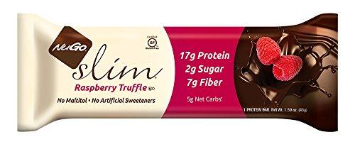 NuGO Slim Raspberry Truffle, 1.59-Ounce (Pack of 12) by NuGo