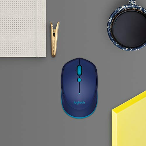 Logitech M535 Bluetooth Mouse – Compact Wireless Mouse with 10 Month Battery Life works with any Bluetooth Enabled Computer, Laptop or Tablet running Windows, Mac OS, Chrome or Android, Blue