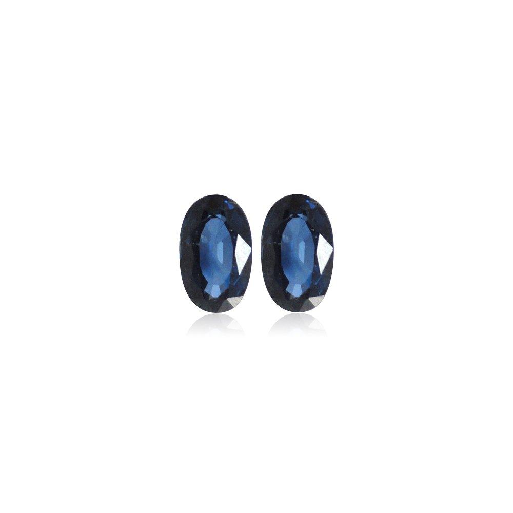 0.50-0.67 Cts of 5x3 mm AA Blue Sapphire ( 2 pcs ) Loose Gemstones
