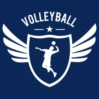 Sudadera con capucha de mujer Volleyball Winged by Shirtcity Azul marino
