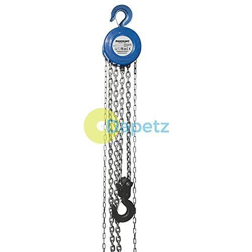 Dapetz® catena blocco 3000kg/3m altezza di sollevamento durevole, zincato temprato e lega