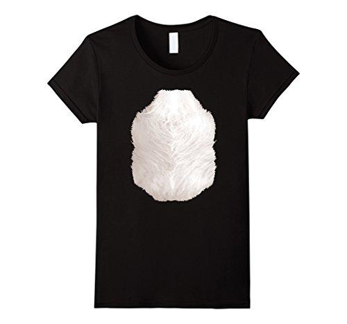 Womens Cute Panda Costume T-Shirt Halloween Animal Belly for Kids XL (Ladies Panda Costume)