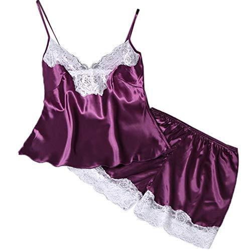 2PC Lingerie Women Babydoll Nightdress Nightgown Sleepwear Underwear Set -