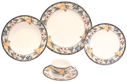 Mikasa Garden Harvest 5-Piece Place Setting  sc 1 st  Amazon.com & Amazon.com | Mikasa Garden Harvest 5-Piece Place Setting: Dinnerware ...
