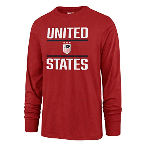 - OTS World Cup Soccer Men's Rival Long Sleeve Tee, U.S. Women's Soccer Team, Double Bar Red, Large
