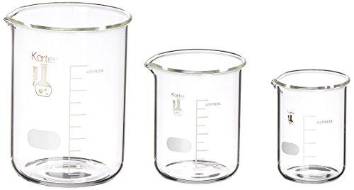 Karter Scientific SF-214T2 Borosilicate Glass Beaker Set, 50/100 ...