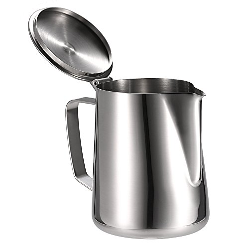 anself stainless steel milk frothing pitcher coffee foam import it all. Black Bedroom Furniture Sets. Home Design Ideas