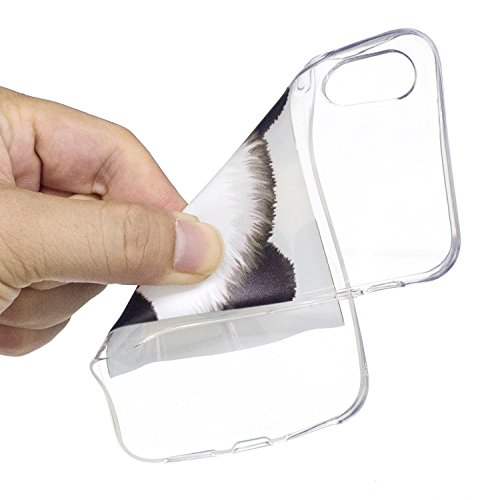 iPhone X Hülle Netter Panda Premium Handy Tasche Schutz Transparent Schale Für Apple iPhone X / iPhone 10 (2017) 5.8 Zoll Mit Zwei Geschenk