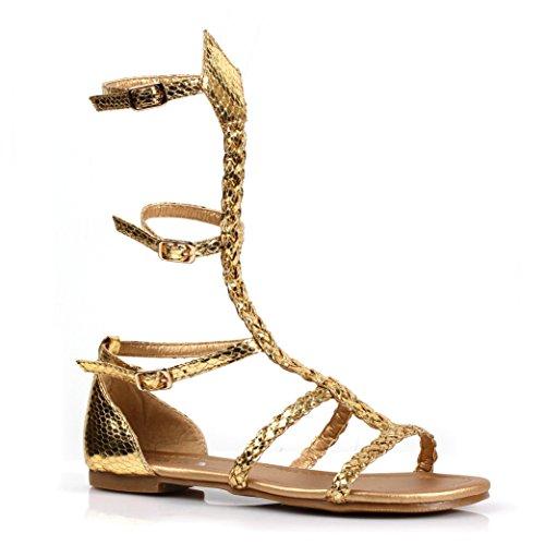 Girls Miriam Gladiator Flat Sandal Shoes sz Medium 13-1 -